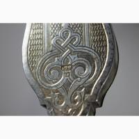 Старинный напрестольный крест большого размера. Серебро «84». Москва, начало 1900-х гг