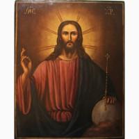 Продается Храмовая икона Господь Вседержитель со сферой. Российская Империя XIX век