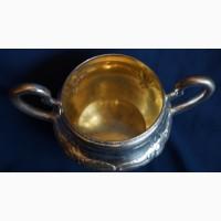 Старинный чайный набор из серебра 835 пробы стиле Модерн. Дания, нач. 1900-х гг