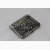 Продается Серебряный портсигар Охотничьи собаки. Москва 1927-1935 гг