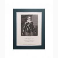 Продается Гравюра Henry F.S., принц Уэльский. R.Cooper 1825 год