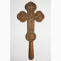 Старинный напрестольный резной крест. Русский Север, XVIII век