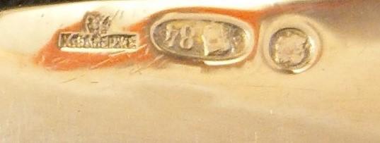 Фото 10. Продается Серебряный десертный нож в стиле ампир Faberge. Москва 1908-1917 гг