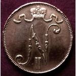 Редкая, медная монета 5 пенни 1914 год
