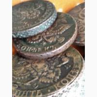 Монеты в 5 копеек Елизаветы 1760, 1761г. и Екатерины 72, 78, 80, 85, 86, 89, 90, 95 год ЕМ