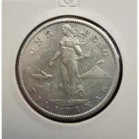 Филиппины (США), 1 Песо, 1907 S, Серебро, XF