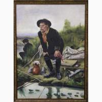 Продается Копия картины Перова В.Г. Рыболов. СССР 1920-1935 гг