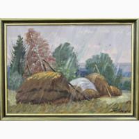 Продается Картина Стога под дождём. Ельцов Н.В. г. Самара 2010 год