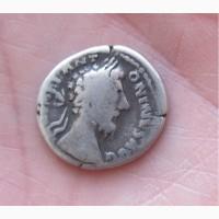 Серебряный денарий, император Марк Аврелий, Древний Рим