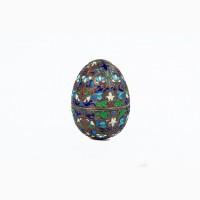 Антикварное серебряное яйцо. Перегородчатая эмаль. Овчинников. 19 век