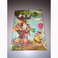 Продам открытку:Винни Пух, 1979 год, объемная