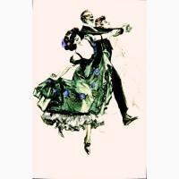 Редкая открытка. Модерн. Танец.1906 год