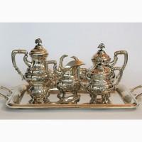 Продается Серебряный чайно-кофейный сервиз. Испания середина XX века