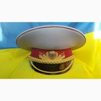 Фуражка генерал-майор, генерал-лейтенант. парадная. всу украина. золото