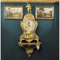 Антикварные настенные часы. Стиль Буль, Франция. 19 век