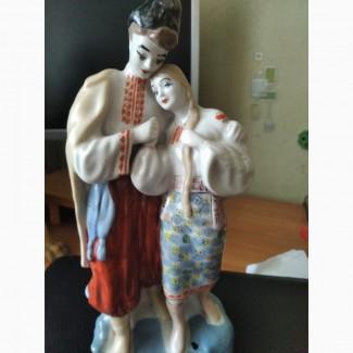 Статуэтка фарфоровая Майская ночь, СССР, козак и девушка