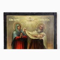 Продается Икона Святая Анна Пророчица и Святой Симеон Богоприимец. Тобольск 1810 год