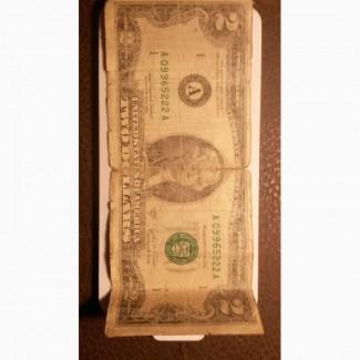 Продам купюру: 2 доллора одной купюрой.2003 год