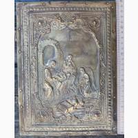 Церковная книга Святое Евангелие, латунные крышки, застежки, Священный Синод, Москва, 1905