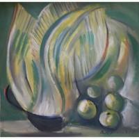 Картина Растения с яблочками холст, масло