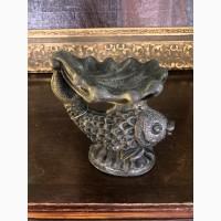 Пепельница Золотая рыбка (металл, 14 см)