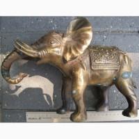 Бронзовая статуэтка Слон, старинная