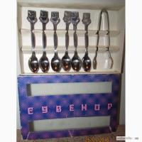 Продам набор кофейных ложек и щипцы, 82г, Болгария