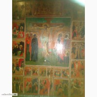 Икона Праздники, конец 19века, размер 64х60