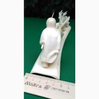 Скульптурная композиция упряжка с оленями, собакой и чукчей