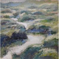 Картина Вечер на речке холст, масло