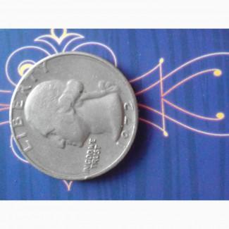 Продам монету Liberty QUARTER DOLLAR 1972 года. Перевертыш