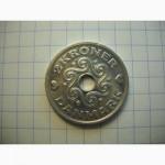 Дания. Монета с сердечками 1997г