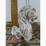 Фарфоровая статуэтка Золотая лошадка Конь Лошадь Вербилки СССР