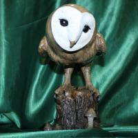 Сова Глафира оригинальный подарок авторская скульптура из натурального камня