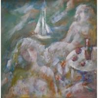 Картина Кораблик холст, масло
