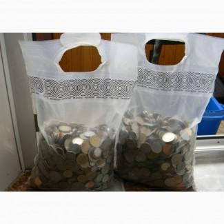Мешок иностранных монет, 5-10 кг