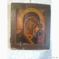 Икона 19век казанская божья матерь панков.п.и
