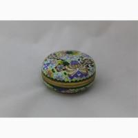 Продается Латунная шкатулка Цветущий сад. Техника Cloisonné. Китай 1950-е годы