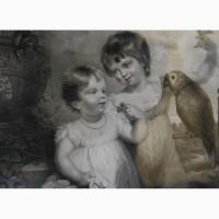 Продается Гравюра Infantine Amusement Anthony Cardon. Англия 1804 год