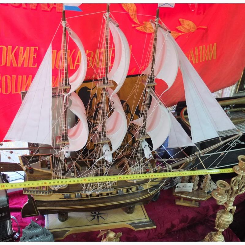 Фото 2. Модель парусного корабля, ручная работа