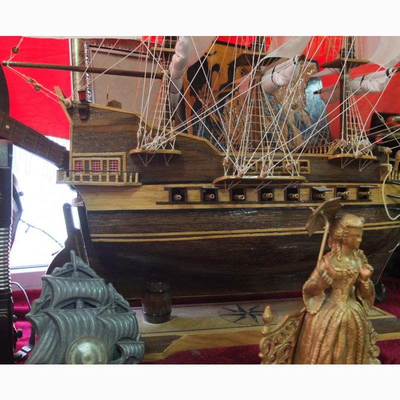 Фото 3. Модель парусного корабля, ручная работа