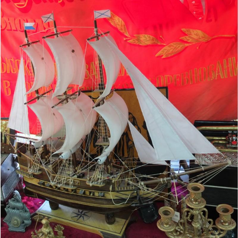 Фото 4. Модель парусного корабля, ручная работа