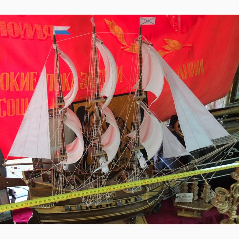 Фото 5. Модель парусного корабля, ручная работа