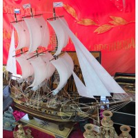 Модель парусного корабля, ручная работа