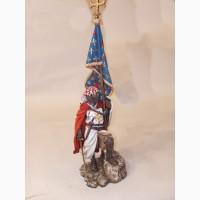 Рыцарь со знаменем, рыцарь с мечом военно-историческая миниатюра