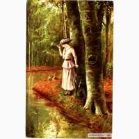 Редкая открытка.«Падающие листья».1917 год