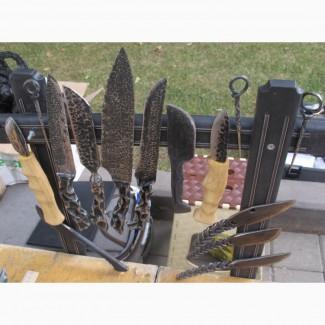 Коллекция ножей 10 штук, ручная ковка