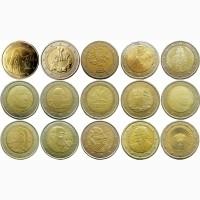 Юбилейные монеты 2 евро - разные страны