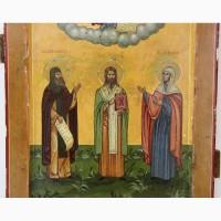 Продается Икона Избранных святых Преп. Нифонт, Св. Муч. Харлампий, Св. Муч. Анисья
