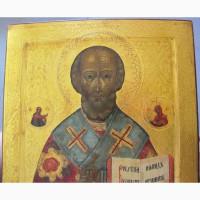 Икона Николай Чудотворец, полная реставрация
